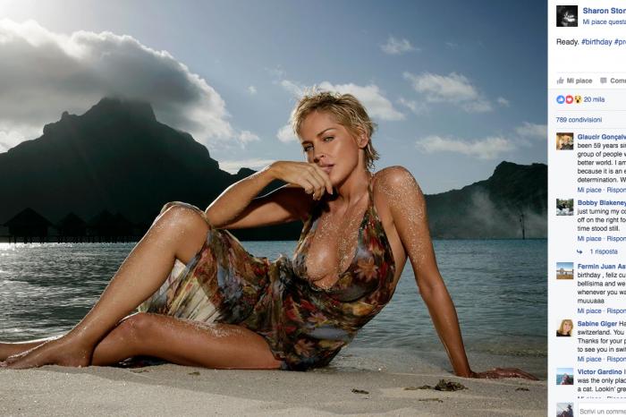 Sharon Stone, 59 anni e non sentirli: lo scatto che manda in tilt i fan